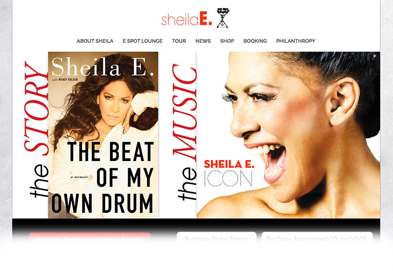 Sheila E. Website