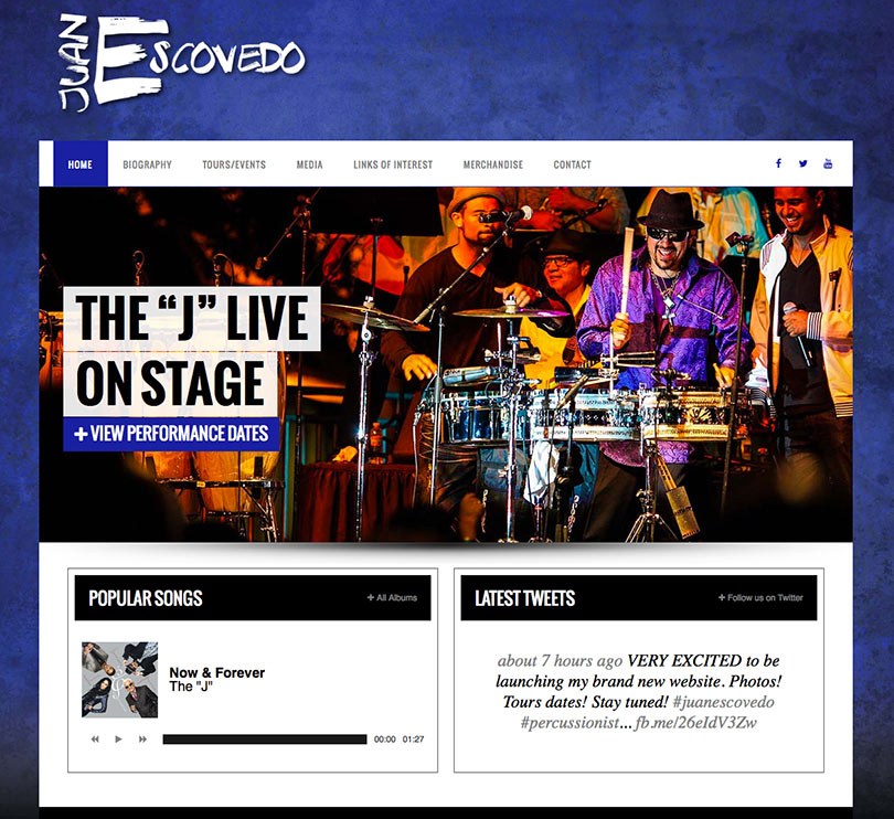 Juan Escovedo website