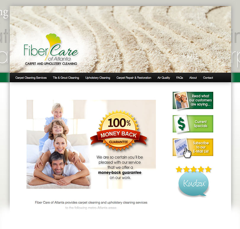 Fiber Care of Atlanta website