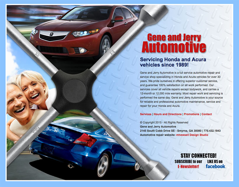 Gene and Jerry Automotive website