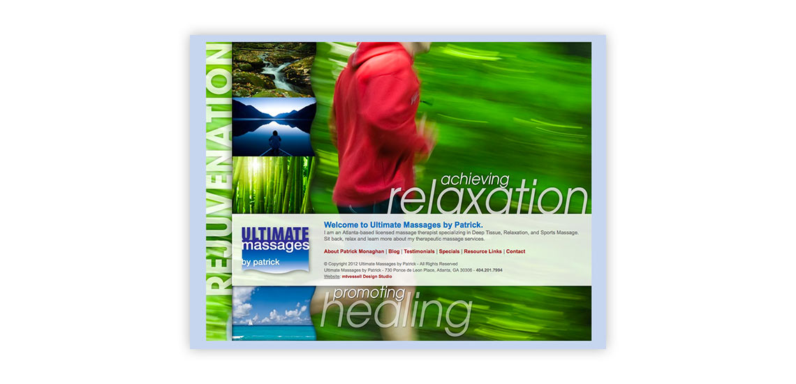 Ultimate Massages by Patrick Website