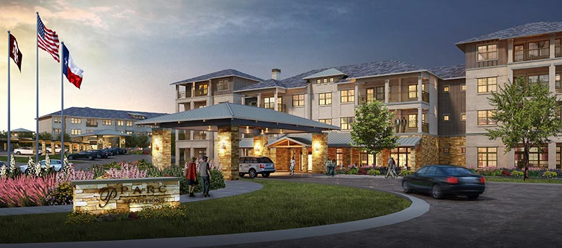 Parc at Traditions entrance rendering